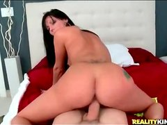 Slutty Jade sits cunt on cock in reverse cowgirl