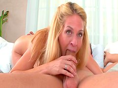 Mature beauty loves younger cocks