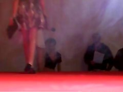 Dirty blonde bitch goes crazy stripping
