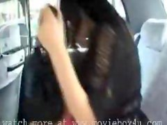 asian teen girl show tits in the car
