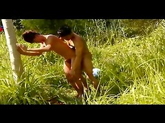 A Sizzling Outdoor Asian Bareback Fucking And Cum