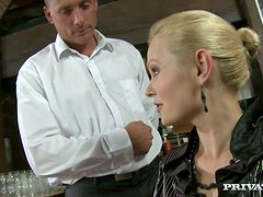 Horny Kathy Sweet gets gets fucked hard by a waiter