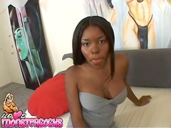 Ebony Candice Nicole gets pounded by in interracial POV video