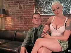 Slutty Bitch Gets Her New Boyfriend To Do Some Excentric Sex Games!