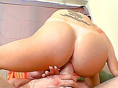 Horny blonde has her tight pussy stretched out by a monster cock