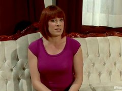 Redhead Lea Lexis gets whipped and toyed in the ass
