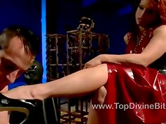 Mistress Nicki Hunter humiliates Jason
