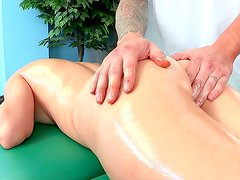 Busty slut enjoys sexy massage
