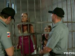 Gilda and Kathy get fucked rough by in a prison ward