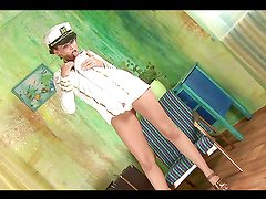 Chick In Sailor Outfit Does Solo Scene