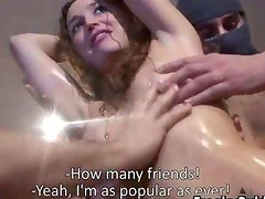 Horny slut from Espana sucking of 20 big