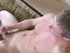 Straight jock jerks his cock for you