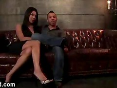 Big boobs and ass tranny fucks guy in bdsm