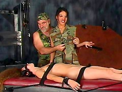 Sluts in uniform during hot BDSM