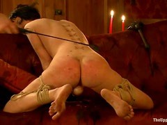 Cherry Torn gets tied up and toyed in her tight ass