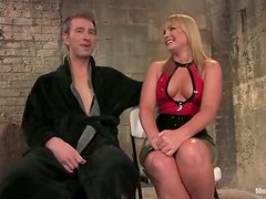 Pegging and Facial Strapon Fucking in Femdom BDSM Vid with Flower Tucci