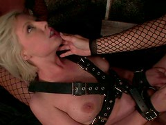 Alluring blond chic Lolly Blond gets her cunt fingered by insatiable lesbians