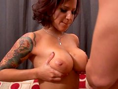 Ruined mulatto MILF rides kinky dude in cowgirl style