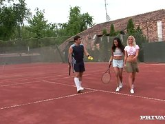 Naughty Girls And Their Tennis Coach