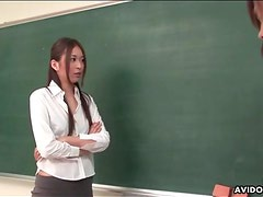 Schoolgirl titties sucked by young guys