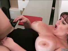 BBW secretary fucked on her desk at work
