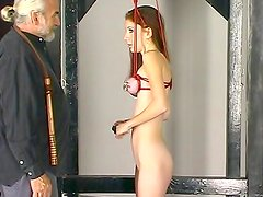 Young babe gets BDSM stimulated