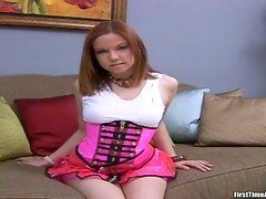 Naughty redhead honey rocks a huge cock at the auditions