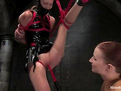 Nasty Charlotte Brooke lick her mistresses pussy and gets tortured