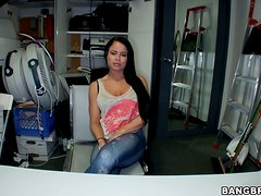 Stunning Nikki Delano gets nailed by her colleague