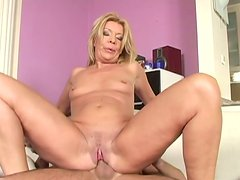 Sex-starved mature woman gives blowjob and rides on cock