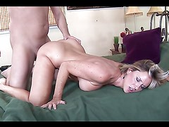 Horny milf devours a hard dick