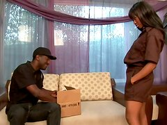 Hot Imani Rose gets fucked deep in a living room