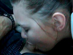 Horny girlfriend Pryce Jake gets her pussy finger fucked and gives blowjob in the car