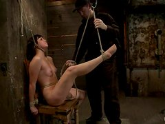 Nipple Clamps and Ropes To Torture Naughty Girl Kiki Koi