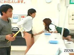 Bizarre Japan post office public counter side handjob