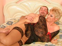 Aroused dude welcomes titfuck from vast mature