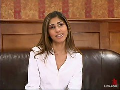 Exotic Babe Sahara Knite Fucked and Dominated in the Office by Boss
