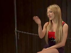Blonde Amy Brooke has brown tunnel Toyed in Sleaze sadism mov
