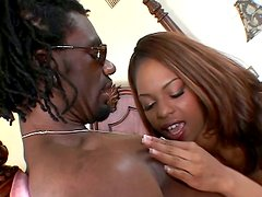 Ebony Marie Luv gets ass fucked by a big cocked Black dude