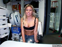 Lustful Aubrey Addams gets pounded by a tattooed guy