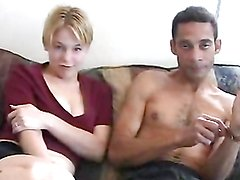 Kinky blonde takes a drilling from a monster cock