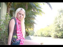 Monster cock fun for a naughty blonde teen