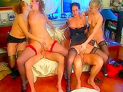 Horny sluts in group action