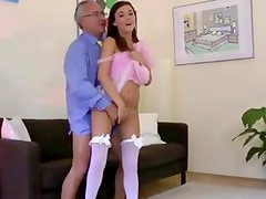 Amateur euro stockings slut gets fucked