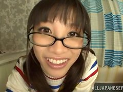 Playful Japanese teen wants to eat some cum