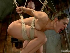 Sexy Lyla Storm gets humiliated and fucked in bondage show