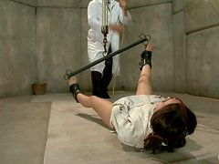 Sexy Gabriella Paltrova gets tied up and toyed with big dildo