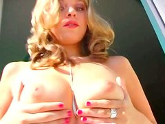 Angelic beauty Galina gets double penetrated in MMF