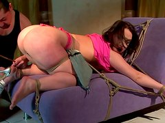 Fat ass bitch is punished hard in filthy BDSM porn video