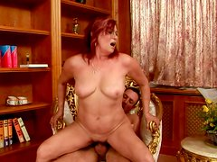 Vast overaged BBW hops on young folks reverse cowgirl